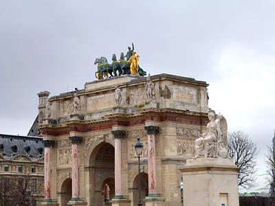 Photograph - Arc De Triomphe Du Carrousel In Winter by Laura Greco