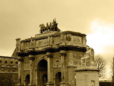 Photograph - Arc De Triomphe Du Carrousel  by Laura Greco