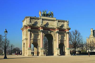 Arc De Triomphe Du Carrousel Wall Art - Photograph - Arc De Triomphe Du Carrousel Paris France  by Ivan Pendjakov