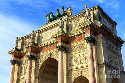 Arc De Triomphe Du Carrousel Wall Art - Photograph - Arc De Triomphe Du Carrousel Paris by John Rizzuto