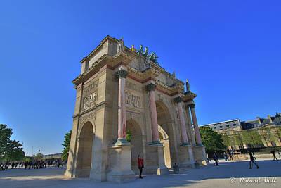 Arc De Triomphe Du Carrousel Wall Art - Photograph - Arc De Triomphe Du Carrousel by Roland Hall
