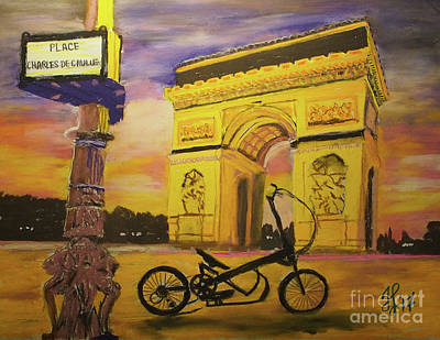 Painting - Arc De Triomphe by Francois Lamothe