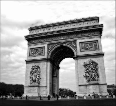 Photograph - Arc De Triomphe In Black And White by Ginger Wakem