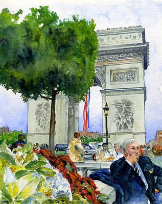 John Benson Painting - Arc De Triomphe by John D Benson