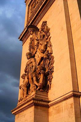 Wolken Photograph - Arc De Triomphe by Juergen Weiss