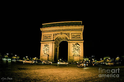 Paris Skyline Royalty-Free and Rights-Managed Images - Arc de Triomphe  by Julian Starks