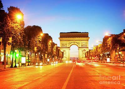 Photograph - Arc De Triomphe, Paris, France by Anastasy Yarmolovich