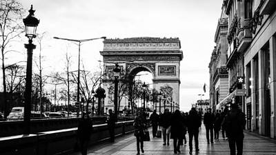 Photograph - Arc De Triomphe Paris France by Lawrence S Richardson Jr