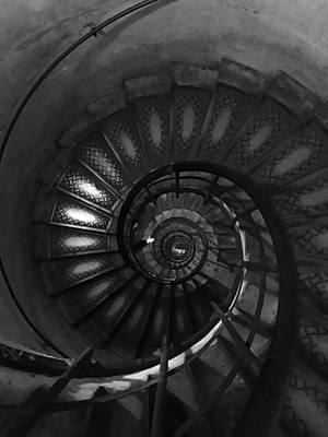 Photograph - Arc De Triomphe Stairs Paris France by Lawrence S Richardson Jr