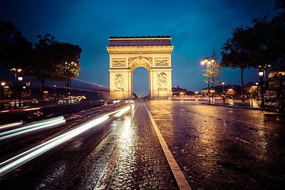 Landmark Digital Art - Arc De Triomphe by Super Lovely