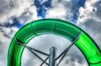 Photograph - Arc Of The Water Slide by Gary Slawsky