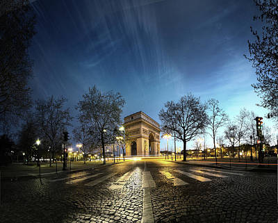 Illuminated Photograph - Arc Of Triumph by Pascal Laverdiere