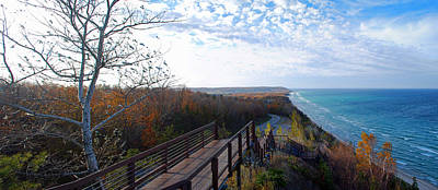 Lake Michigan Photograph - Arcadia Overlook In Fall by Twenty Two North Photography