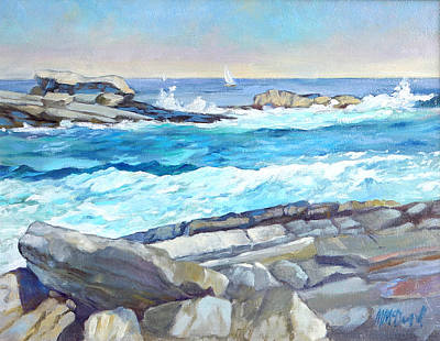 Painting - Arcadia Surf by Michael McDougall