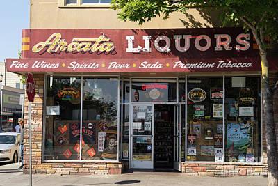 Photograph - Arcata Liquors Arcata California Dsc5390 by Wingsdomain Art and Photography