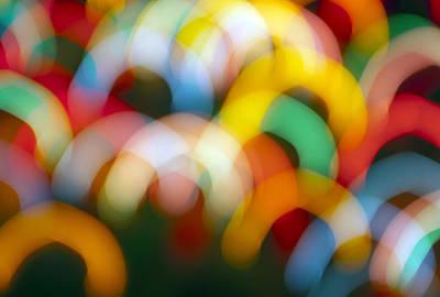 Photograph - Arch Abstract Christmas Lights by Glenn Gordon