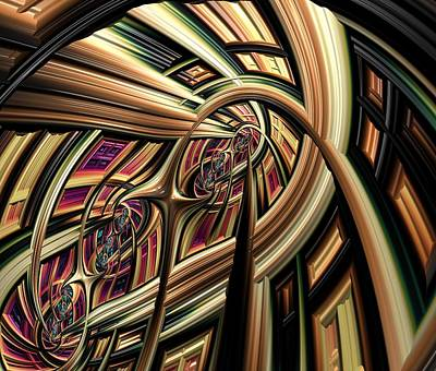 Church Window Digital Art - Arch Abstract by Marianna Mills