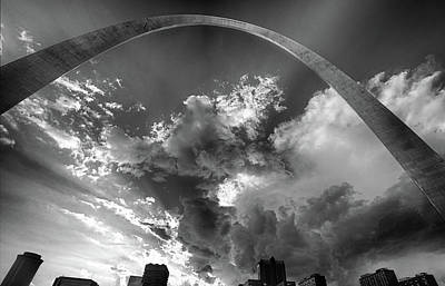 Photograph - Arch Against Clouds by C H Apperson
