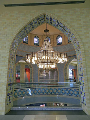 Photograph - Arch And Chandelier by Pema Hou