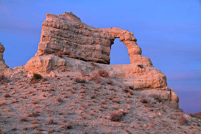 Photograph - Panaca Arch At Twilight  by Ed  Riche