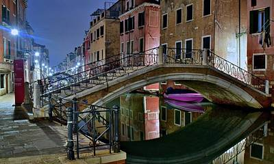 Photograph - Arch Bridge In Venice by Frozen in Time Fine Art Photography