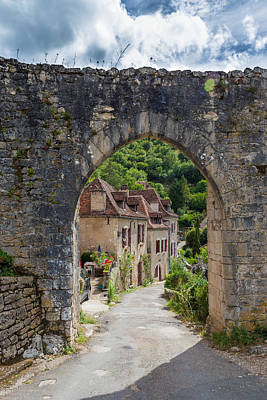 Photograph - Arch Entrance At Saint Circ Lapopie In France by Semmick Photo