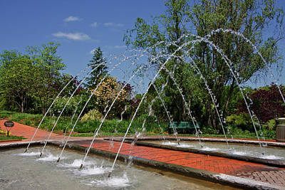 Photograph - Arch Fountain At Daniel Stowe by Jill Lang