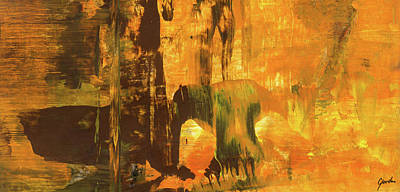 Painting - Arch Gate - Contemporary Abstract Urban Art Painting by Modern Art Prints