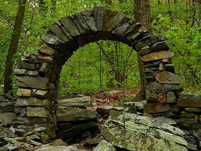 Photograph - Arch In Gathland State Park In Maryland by Raymond Salani III