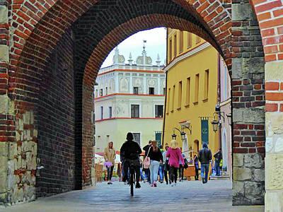 Photograph - Arch, Lublin, Poland by David Frankel