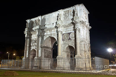 Photograph - Arch Of Constantine By Night by Fabrizio Ruggeri