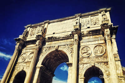 Rome Photograph - Arch Of Constantine by HD Connelly