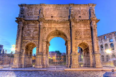 Photograph - Arch Of Constantine In Rome, Italy, Hdr by Elenarts - Elena Duvernay photo