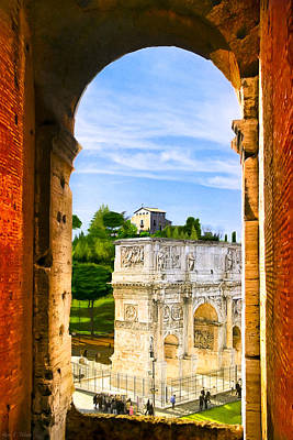 Photograph - Arch Of Constantine In Rome by Mark E Tisdale