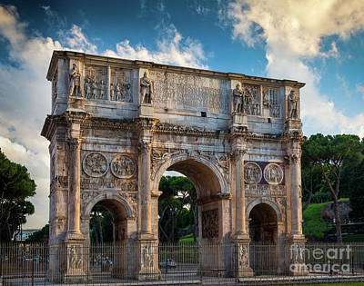 Ruin Photograph - Arch Of Constantine by Inge Johnsson