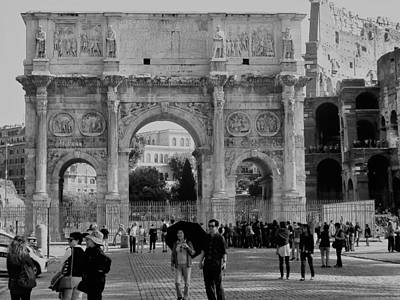 Photograph - Arch Of Constantine by Neil Zimmerman