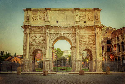 Rome Photograph - Arch Of Constantine Rome Italy by Joan Carroll