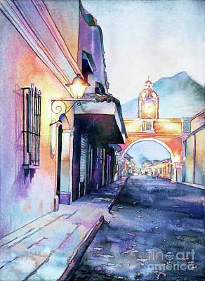 Painting - Arch Of Santa Catalina- Guatemala by Ryan Fox