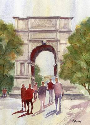 Arch Of Titus Print by Marsha Elliott