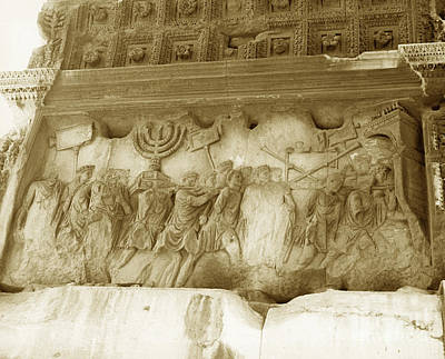 Menorah Photograph - Arch Of Titus by Photo Researchers, Inc.