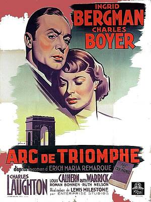 Ethereal - Arch of Triumph theatrical poster number 1  French 1948 color added 2016 by David Lee Guss