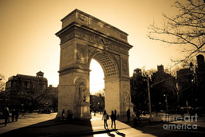 Square Photograph - Arch Of Washington by Joshua Francia