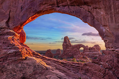 Temple Of Inspiration Print by Mikes Nature