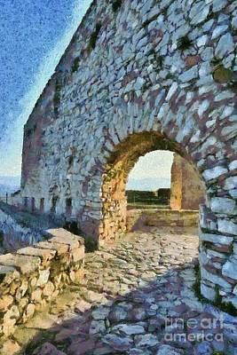 Painting - Arch On Palamidi Castle by George Atsametakis