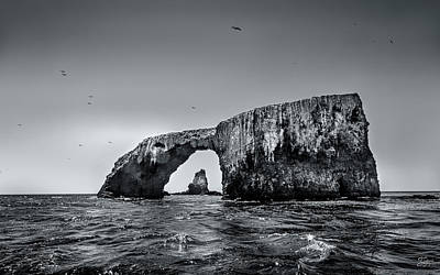 Photograph - Arch Rock 2 In Black And White by Endre Balogh