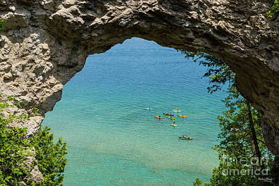 Photograph - Arch Rock Canoeing by Jennifer White