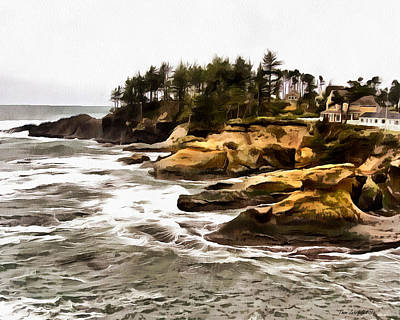 Photograph - Arch Rock Depoe Bay by Thom Zehrfeld