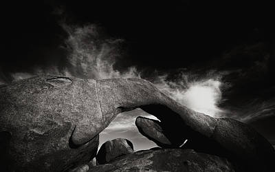 Mojave Desert Photograph - Arch Rock / Low Key by Joseph Smith