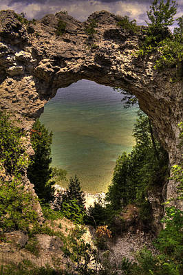 Photograph - Arch Rock Mackinac Island by Roger Passman