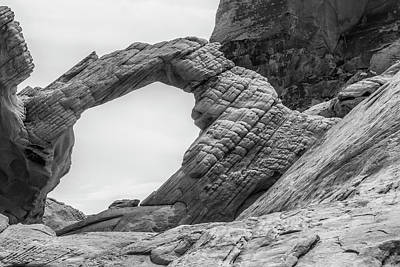 Arch Rock Black And White Original